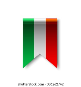 Flag of Italy. Ribbon. Vector illustration.