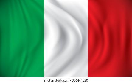 Flag of Italy - vector illustration