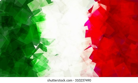 The flag of Italy in Vector Square Design