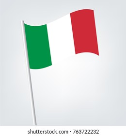 Flag of Italy , Italy flag waving isolated vector illustration