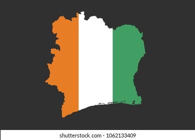 Flag of Ivory Coast country