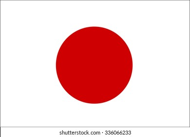 Flag of Japan vector illustration