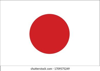 Flag of japan vector. Vector image of Japan flag.