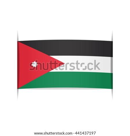 3a0b8299bf84 Flag Jordan Officially Hashemite Kingdom Jordan Stock Vector ...