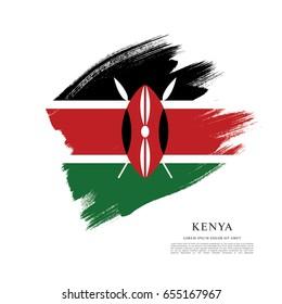 Flag of Kenya, brush stroke background