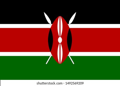 Flag of Kenya a vector illustration