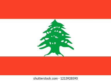 Flag of Lebanon vector, country flags, flags