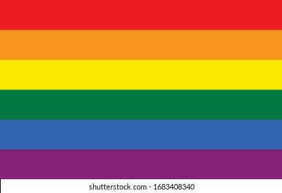Flag LGBT pride community, Gay culture symbol, Homosexual pride. Rainbow flag sexual identity. Vector illustration