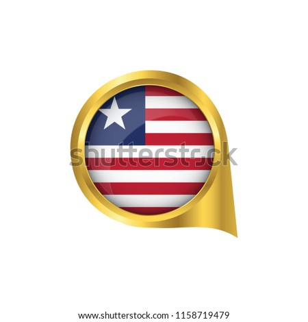 Flag Liberia Location Map Pin Pointer Stock Vector (Royalty Free ...