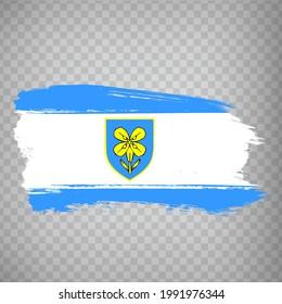 Flag of Lika-Senj County brush strokes. Flag Lika-Senj County of Croatia on transparent background for your web site design, app, UI. Republic of Croatia. EPS10.