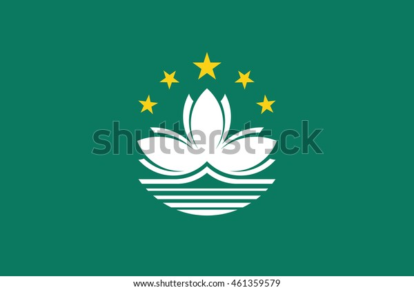 Flag of Macau. Vector. Accurate dimensions, element proportions and colors.
