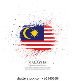 Flag of Malaysia, brush stroke background