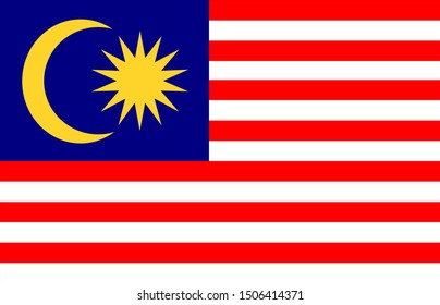 flag of malaysia on background