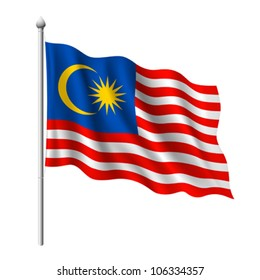 Flag of Malaysia, vector illustration