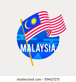 The Flag Of MalaysiaCelebrating Independence Or National Day With Waving FlagAnniversary