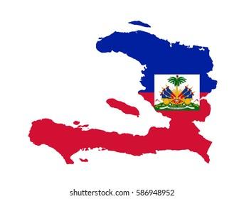 Flag map of Haiti