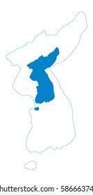 Flag map of Korean Peninsula