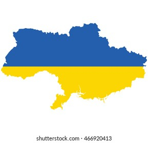 Flag map of Ukraine
