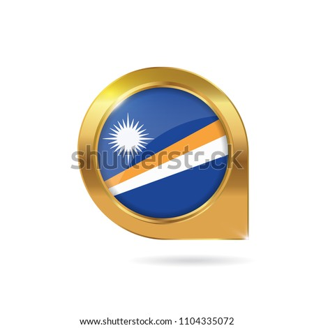 Flag Marshall Islands Location Map Pin Stock Vector (Royalty Free ...