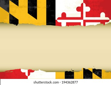 A flag of Maryland with a large frame for your message. Ideal to use for a screen