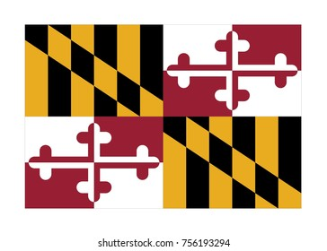 Flag of Maryland. Vector illustration.