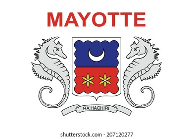 Flag of Mayotte. Vector. Accurate dimensions, element proportions and colors.
