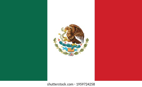 Flag of Mexica, national country symbol illustration