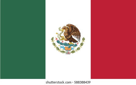 Flag Of Mexico page symbol for your web site design Mexico flag logo, app, UI. Mexico flag Vector illustration, EPS10.