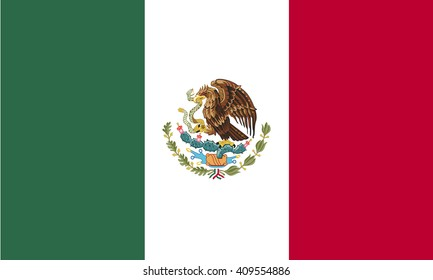Flag of Mexico vector graphics