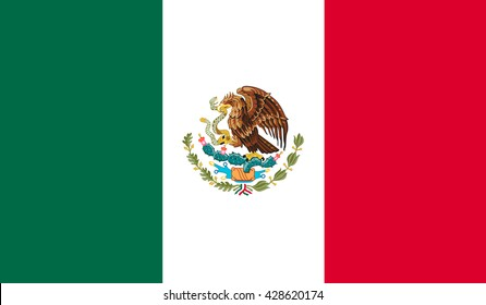 Flag Of Mexico , vector illustration