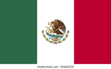 Flag of Mexico vector illustration