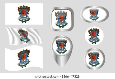 Flag of Michoacan, Mexico