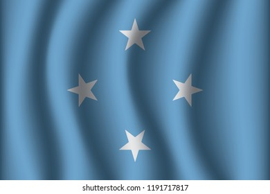 Flag of Micronesia. Micronesia Icon vector illustration eps10.