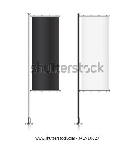 flag mockup banner flag templates set stock vector royalty free