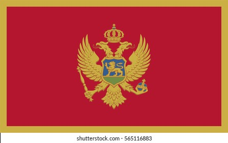 Flag of Montenegro vector illustration