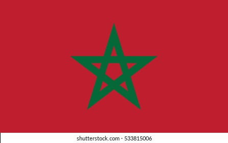 flag of morocco vector icon illustration eps10