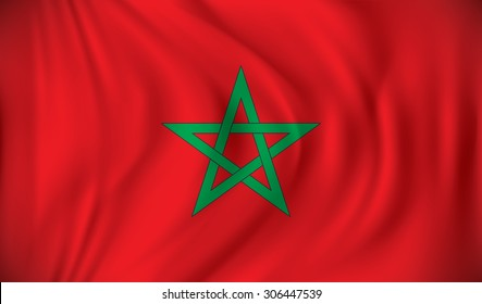 Flag of Morocco - vector illustration
