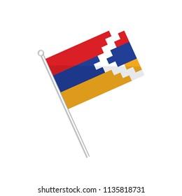 Flag of Nagorno Karabakh. isolated on a white background.