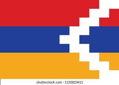 Flag of Nagorno Karabakh.  vector illustration.