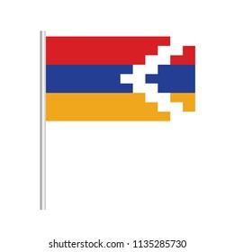 Flag of Nagorno Karabakh.Nagorno Karabakh Icon vector illustration,National flag for country of Nagorno Karabakh isolated, banner vector illustration. Vector illustration eps10.