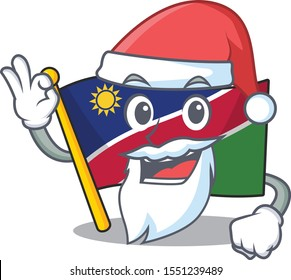 flag namibia santa claus isolated the in character