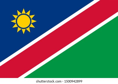 Flag of Namibia a vector illustration