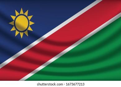 Flag of Namibia .vector illustration eps10. - Vector