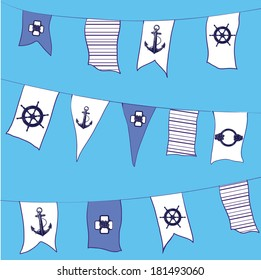 Flag nautical vector pattern