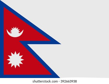 A flag of Nepal