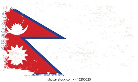 Flag of Nepal in the ancient.