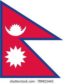 Flag of Nepal for Independence Day. Vector illustration. eps10