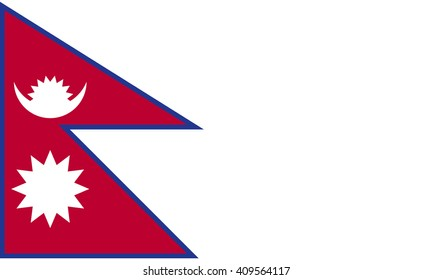 Flag of Nepal vector graphics