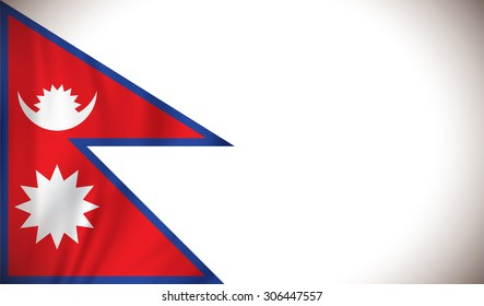 Flag of Nepal - vector illustration