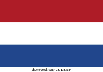Flag of the Netherlands country vector color illustration download eps